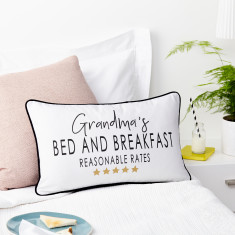 Personalised Bed And Breakfast Boudoir Cushion