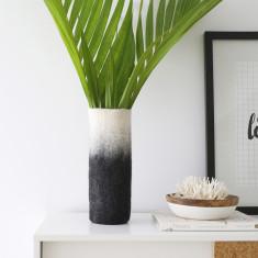 Black ombre felt vase sleeve
