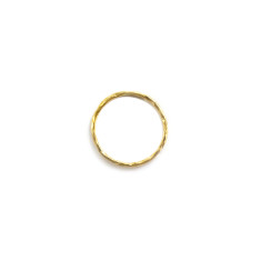 Fine hammered stackable midi ring gold