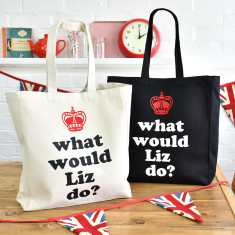 What Would Liz Do? Queen Elizabeth II's 90th Birthday Tote Bag