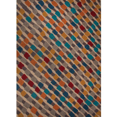 Modern multi hand-tufted wool rug