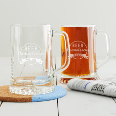 Personalised 'Beer Connoisseur' Tankard