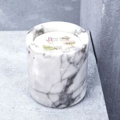 Phosphenes Hand Poured Soy Candle in Marble Vessel