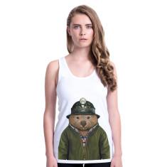 Wombat women's fitted singlet