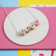 Donut necklace (Pastel rainbow)