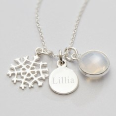 Elsa sterling silver snowflake necklace