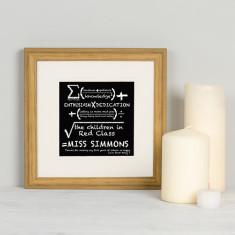 Teacher Sum Personalised Framed Print