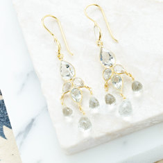 Sheba set drops with green amethyst