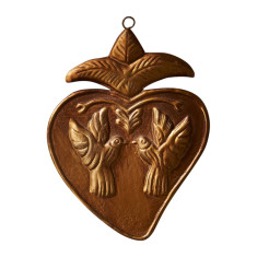Dove pendant heart
