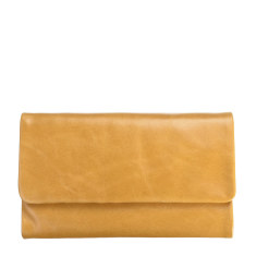 Audrey leather wallet in tan