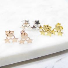 Tristar Stud Earrings (silver/gold/rosegold)