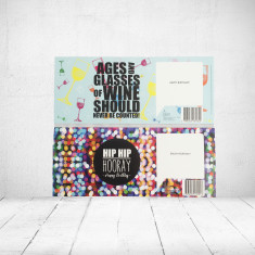 Greeting card labels for wine - (Pack of 2 Small)