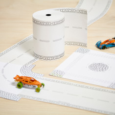 Paper Road On A Roll Toy Car Kit