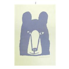 Bear tea towel in purple