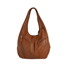 Catalina leather tote in tan