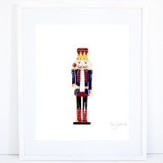 Christmas Nutcracker Print - Blue