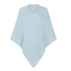 Cashmere Poncho in Sky Blue