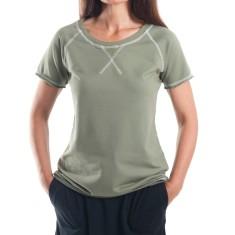 Short Sleeve Raglan Summer Sweat in Khaki