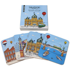 Set of 4 Coasters: Melbourne Collection