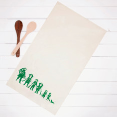 Personalised Tea Towel With Pirate Family
