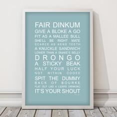 Aussie slang print