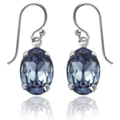 Swarovski crystal oval earrings (various colours)