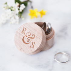 Personalised ampersand wedding ring box