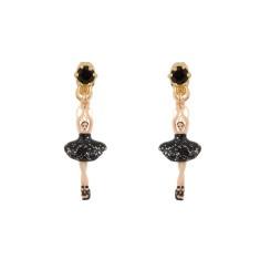 Black mini ballerina earrings