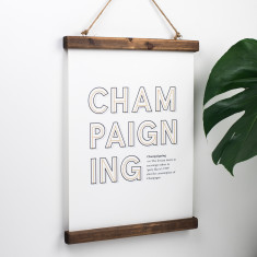 Witty Champagne Definition Print