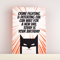 Crime Fighting Birthday Card