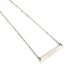 Engraved Personalised Bar necklace