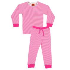 Girls' raspberry floral pyjamas