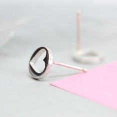 Handmade Open Heart Earrings