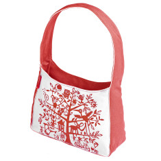 Tamelia cotton canvas Red Tree handbag