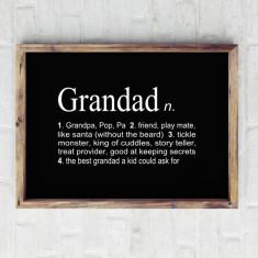 Grandfather dictionary print