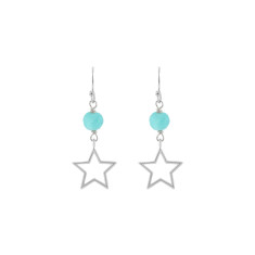 Blue Barcelona sky star earrings