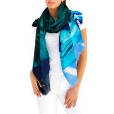 Cashmere Silk Scarf, Greek Isle