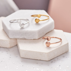 Double Circle Adjustable Ring