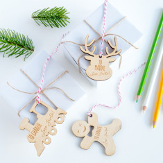 Kids' Personalised Wooden Gift Tags (Set of 10)