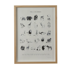 The a - z of animals screenprint on paper