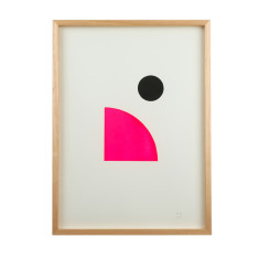 Circle geo limited edition screenprint on paper