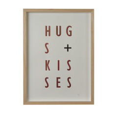 Hugs + kisses copper limited edition screenprint on paper
