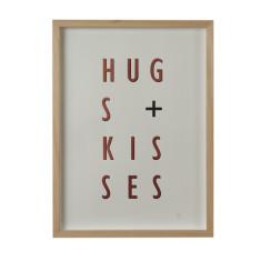 Hugs + kisses copper limited edition screenprint on paper