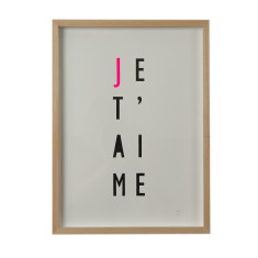 Je t'aime screenprint on paper