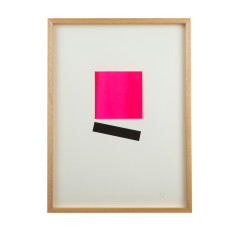 Square geo limited edition screenprint on paper