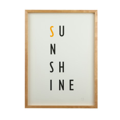 Sunshine limited edition screenprint on paper