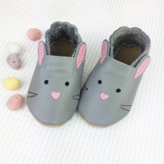 Personalised First Easter Bunny Baby Shoes