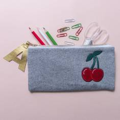 Cherry Personalised Zip Pouch Pencil Case