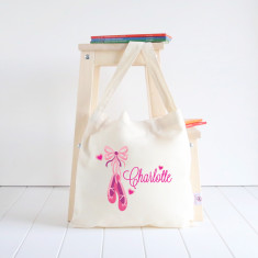 Ballerina Shoes personalised library bag