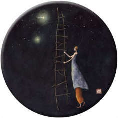 Ladder To The Stars pocket mirror